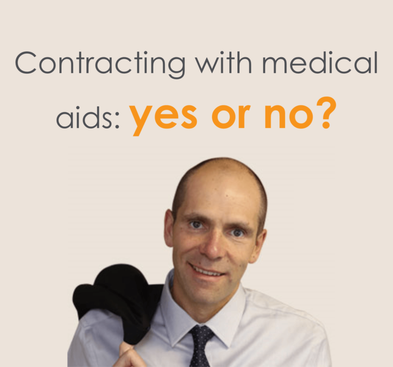 Contracting with medical aids: yes or no?