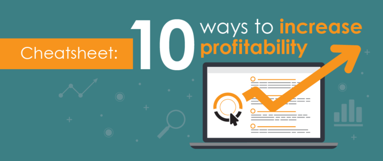 Cheat sheet: 10 ways to increase profitability