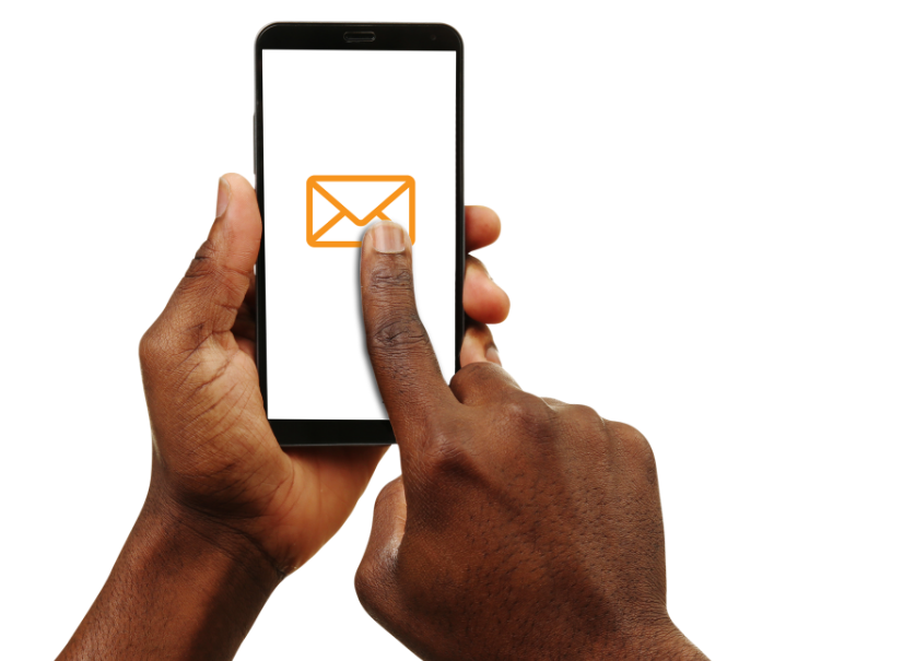 cell phone and email icon