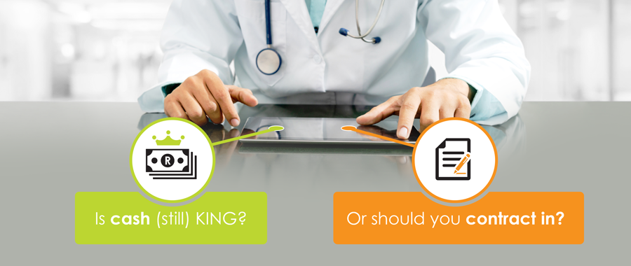 Is cash (still) KING? Or should you contract in?