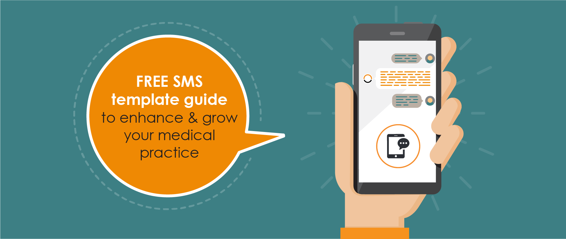 FREE SMS template guide to enhance & grow your medical practice